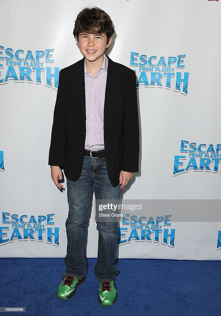 Jonathan Morgan Heit arrives at 'Escape From Planet Earth' at Mann Chinese 6 on February 2, 2013 in Los Angeles, California.