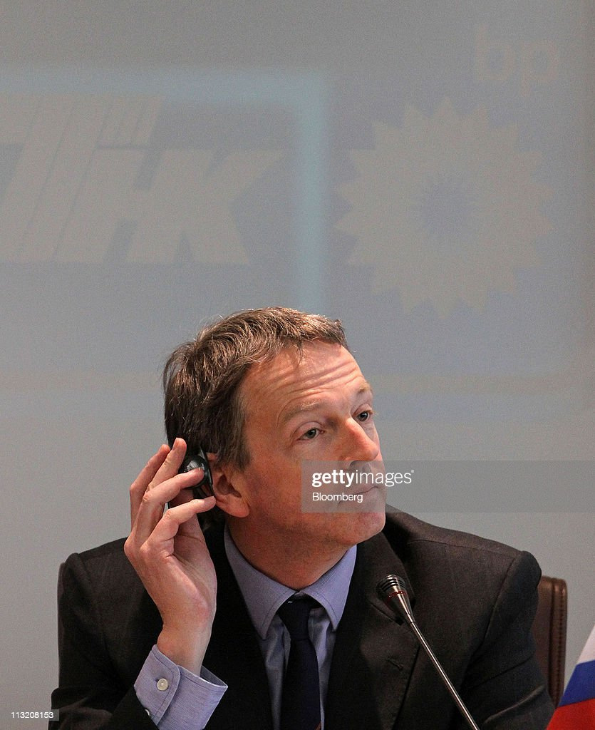 tnk bp first quarter results announcement photos and images jonathan muir chief financial officer of tnk bp pauses during a news conference