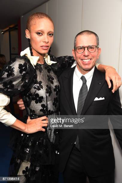 Jonathan Newhouse and Adwoa Aboah attend a dinner hosted by Jonathan Newhouse and Albert Read for Edward Enninful to celebrate the December issue of...