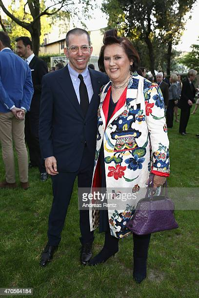Jonathan Newhouse Chairman Chief Executive Conde Nast International and Suzy Menkes International Vogue Editor attend the Conde' Nast International...
