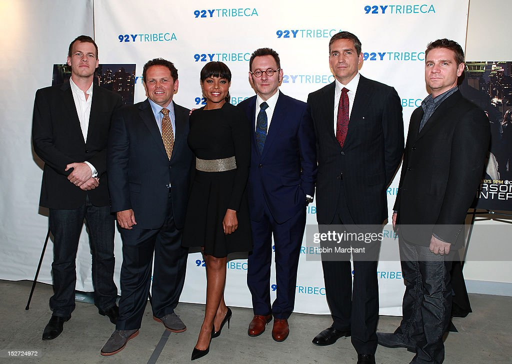 Jonathan Nolan, Kevin Chapman, Taraji P. Henson, Michael Emerson, Jim Caviezel and Greg Plageman attend the 'Person Of Interest' preview screening and Q&A at 92Y Tribeca on September 24, 2012 in New York City.