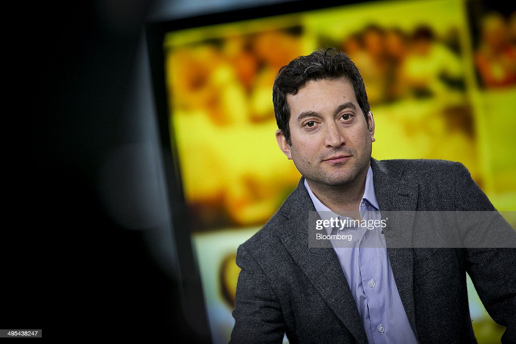 Jonathan Oringer chief executive officer of Shutterstock Inc pauses during a Bloomberg Television interview in New York US on Tuesday June 3 2014...