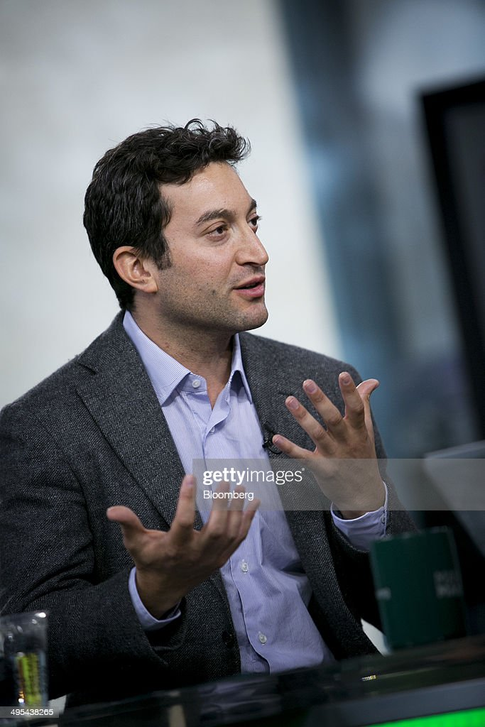 Jonathan Oringer chief executive officer of Shutterstock Inc speaks during a Bloomberg Television interview in New York US on Tuesday June 3 2014...