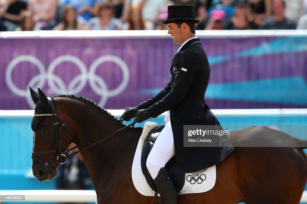 <a gi-track='captionPersonalityLinkClicked' href=/galleries/search?phrase=Jonathan+Paget&family=editorial&specificpeople=4975729 ng-click='$event.stopPropagation()'>Jonathan Paget</a> of New Zealand riding Clifton Promise competes in the Dressage Equestrian event on Day 1 of the London 2012 Olympic Games at Greenwich Park on July 28, 2012 in London, England.