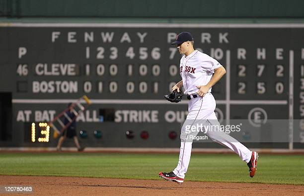 Jonathan Papelbon of the Boston Red Sox competes against the Cleveland Indians at Fenway Park on August 2 2011 in Boston Massachusetts