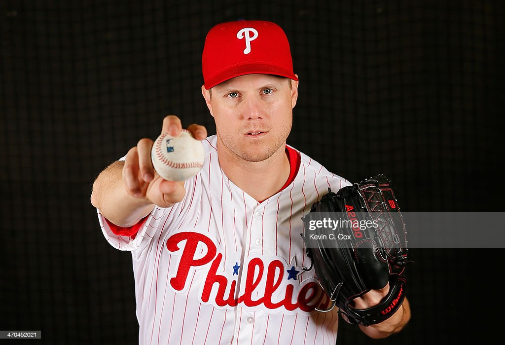 <a gi-track='captionPersonalityLinkClicked' href=/galleries/search?phrase=Jonathan+Papelbon&family=editorial&specificpeople=453535 ng-click='$event.stopPropagation()'>Jonathan Papelbon</a> #58 of the Philadelphia Phillies poses for a portrait on February 19, 2014 at Bright House Field in Clearwater, Florida.