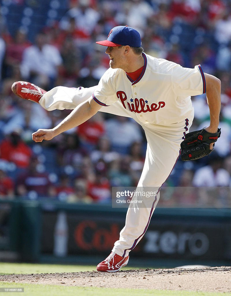 <a gi-track='captionPersonalityLinkClicked' href=/galleries/search?phrase=Jonathan+Papelbon&family=editorial&specificpeople=453535 ng-click='$event.stopPropagation()'>Jonathan Papelbon</a> #58 of the Philadelphia Phillies throws a pitch against the Colorado Rockies at Citizens Bank Park on September 9, 2012 in Philadelphia, Pennsylvania. Papelbon was the winning pitcher in the Phillies 3-2 win.