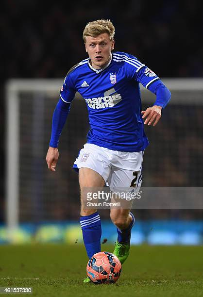 Jonathan Parr of Ipswich Town in action during the FA Cup Third Round Replay match between Ipswich and Southampton at Portman Road on January 14 2015...