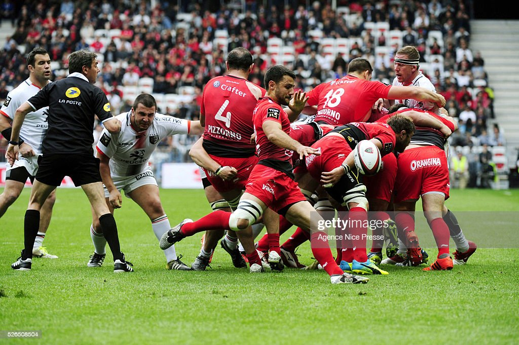 Jonathan PELISSIE during the French Top 14 rugby union match between RC Toulon and Stade Toulousain ( Toulouse ) at Allianz Riviera on April 30, 2016 in Nice, France.