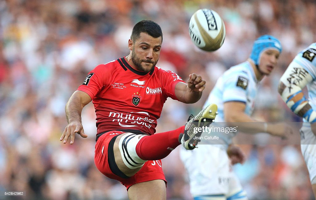 Jonathan Pelissie of RC Toulon in action during the Final Top 14 between Toulon and Racing 92 at Camp Nou on June 24, 2016 in Barcelona, Spain.