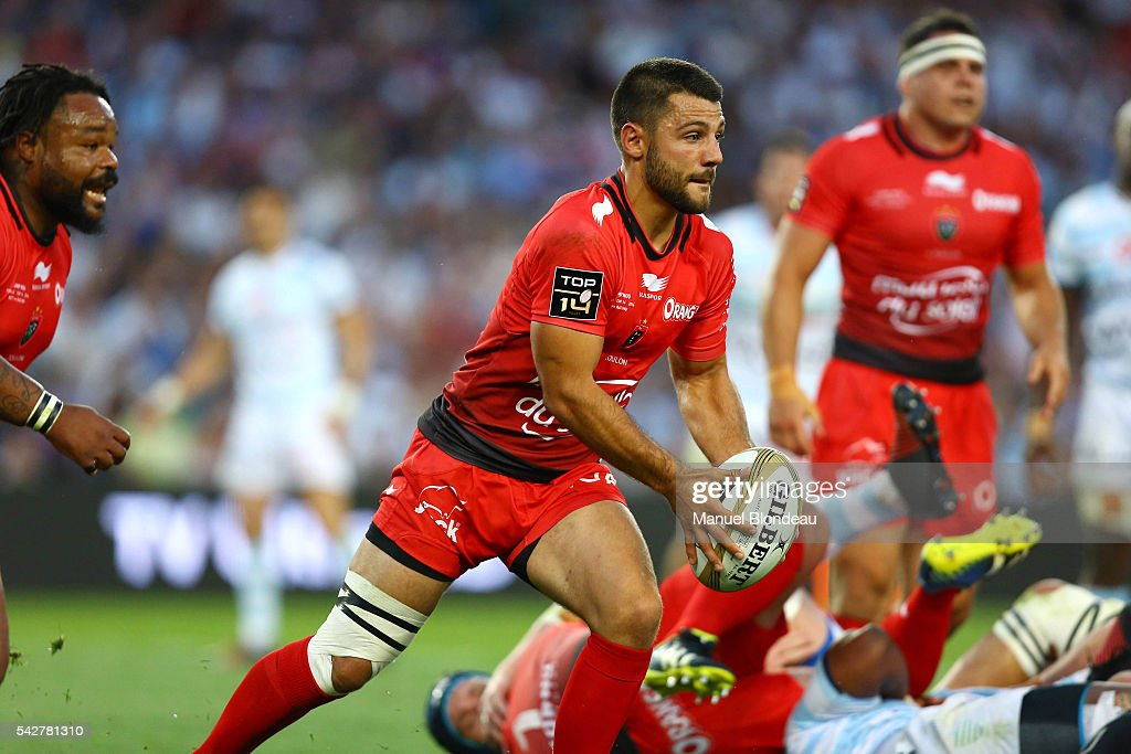 Jonathan Pelissie of Toulon during the Rugby Top 14 Final between RC Toulon and Racing 92 at Camp Nou on June 24, 2016 in Barcelona, Spain.