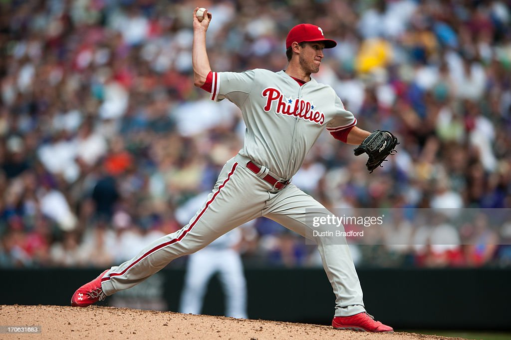 <a gi-track='captionPersonalityLinkClicked' href=/galleries/search?phrase=Jonathan+Pettibone&family=editorial&specificpeople=10524568 ng-click='$event.stopPropagation()'>Jonathan Pettibone</a> #44 of the Philadelphia Phillies pitches against the Colorado Rockies during a game at Coors Field on June 15, 2013 in Denver, Colorado. The Rockies beat the Phillies 10-5.