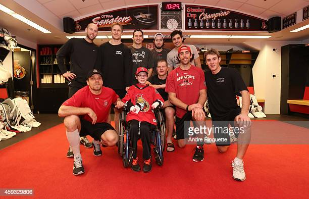 Jonathan Pitre on a one day pro scouting contract with the Ottawa Senators meets Craig Anderson Colin Greening Mark Stone Mika Zibanejad Cody Ceci...