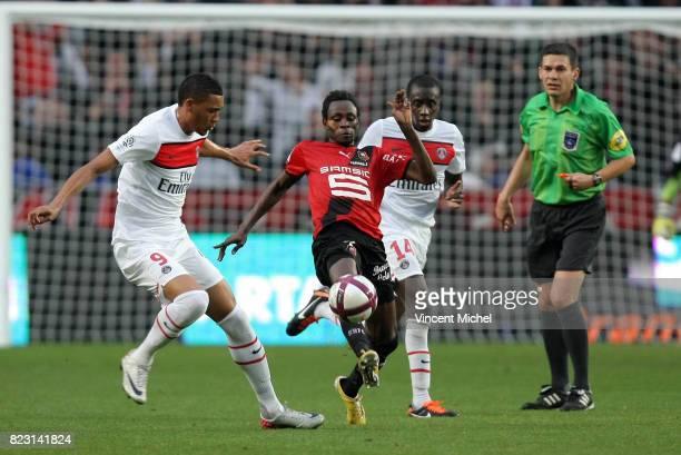Jonathan PITROIPA / Guillaume HOARAU Rennes / PSG 2eme journee de Ligue 1