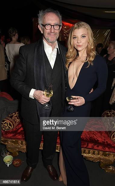 Jonathan Pryce and Natalie Dormer attend the 'Game Of Thrones Season 5' UK Premiere After Party at the Tower of London on March 18 2015 in London...