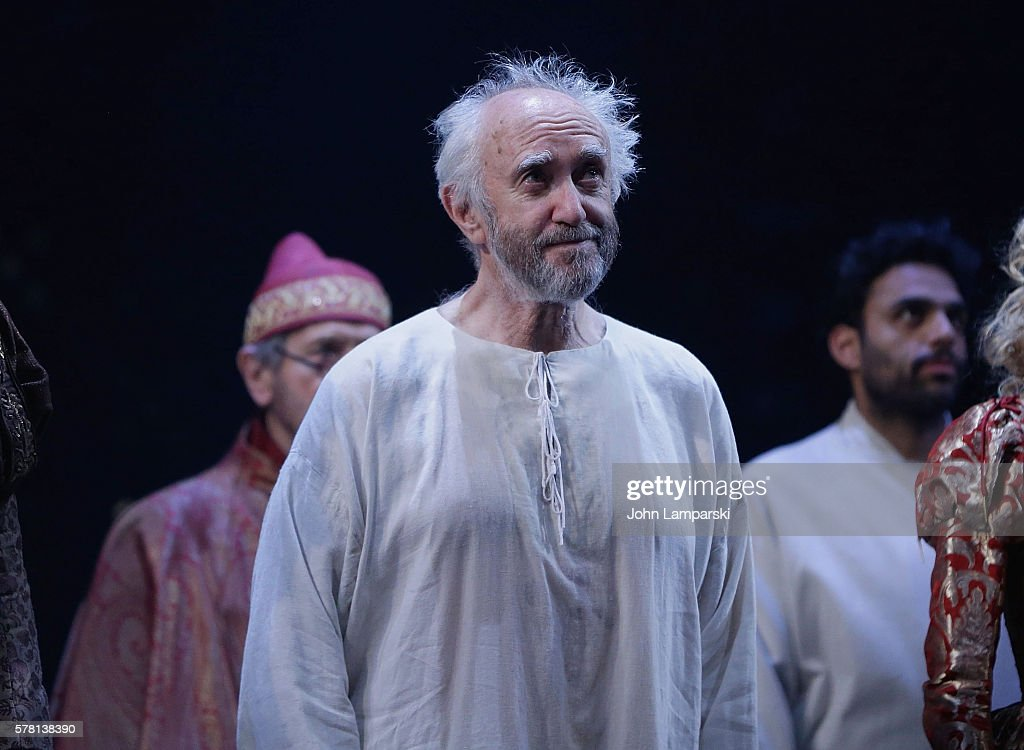 Jonathan Pryce attends the 2016 Lincoln Center Festival 'The Merchant of Venice' opening night curtain call at Rose Theater Jazz at Lincoln Center on...