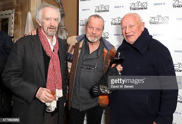 Jonathan Pryce Terry Gillian and Steven Berkoff attends a private screening of 'The Zero Theorem' at the Charlotte Street Hotel on March 11 2014 in...