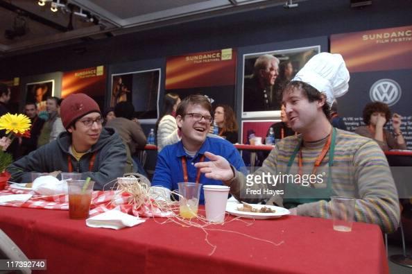 Jonathan Pulley Carson Mell and Trevor Groth during 2007 Sundance Film Festival Directors Breakfast at Kimball Art Center in Park City Utah United...