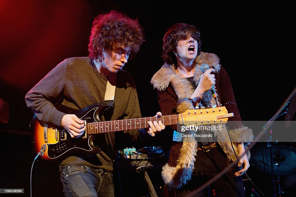 Jonathan Rado and Sam France (R) of Foxygen perform at Metro on December 9, 2012 in Chicago, Illinois.