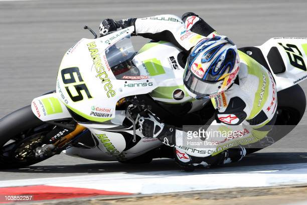 Jonathan Rea of England and HANNspree Ten Kate Honda compete during race first of the FIM Superbike World Championship at Nuerburgring on September 5...