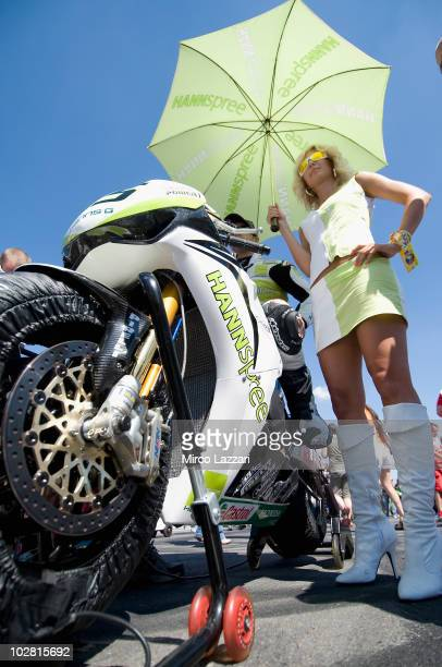 Jonathan Rea of England and HANNspree Ten Kate Honda prepares to start on the grid during the race two of round nine of Superbike World Championship...