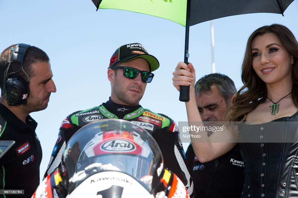 "Jonathan Rea of Kawasaki Racing Team before the race 2 of the Motul FIM Superbike Championship, Riviera di Rimini Round, at Misano World Circuit ""Marco Simoncelli"", on June 18, 2017 in Misano Adriatico, Italy"