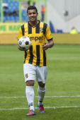 Jonathan Reis of Vitesse during the Eredivisie Europa League Playoff match between Vitesse Arnhem and NEC Nijmegen at the Gelredome Stadium on May 13...