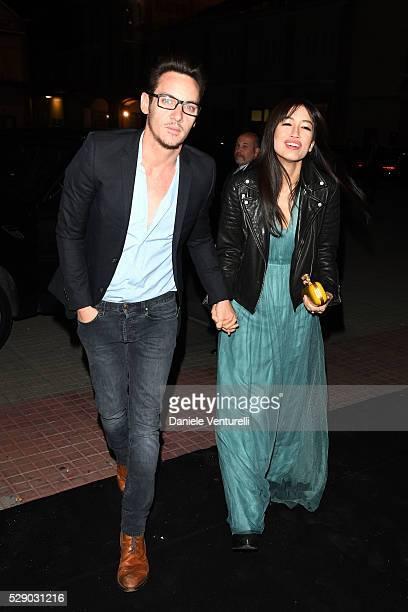 Jonathan Rhys Meyers and Mara Lane attend AMBI GALA in honor of Antonio Banderas and Jonathan Rhys Meyers on May 07 2016 in Rome