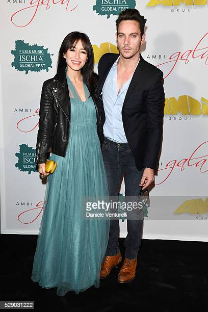 Jonathan Rhys Meyers and Mara Lane attend AMBI GALA in honor of Antonio Banderas and Jonathan Rhys Meyers on May 07 2016 in Rome