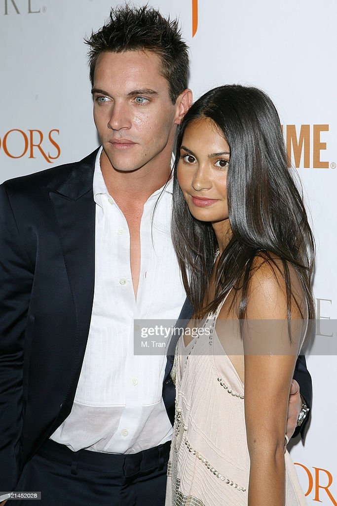 Jonathan Rhys Meyers and Reena Hammer during 'The Tudors' Los Angeles Premiere - Arrivals at Egyptian Theatre in Hollywood, California, United States.