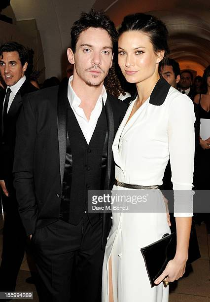 Jonathan Rhys Meyers and Victoria KeonCohen attend the Place For Peace dinner cohosted by Ella Krasner and Forest Whitaker to support the Peace Earth...