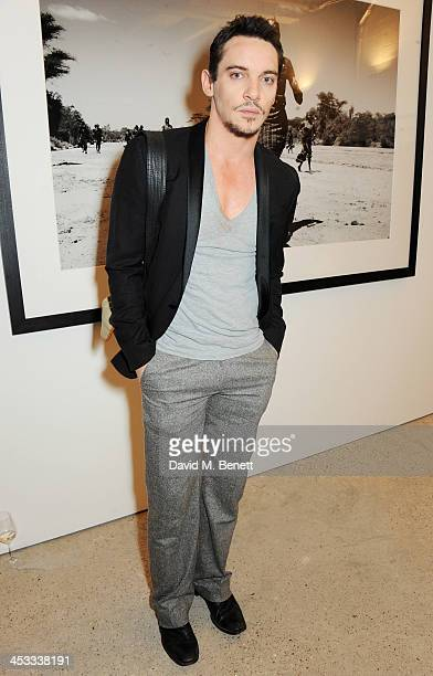 Jonathan Rhys Meyers attends a private view of Nikolai Von Bismarck's new photography exhibition 'In Ethiopia' at 12 Francis Street Gallery on...