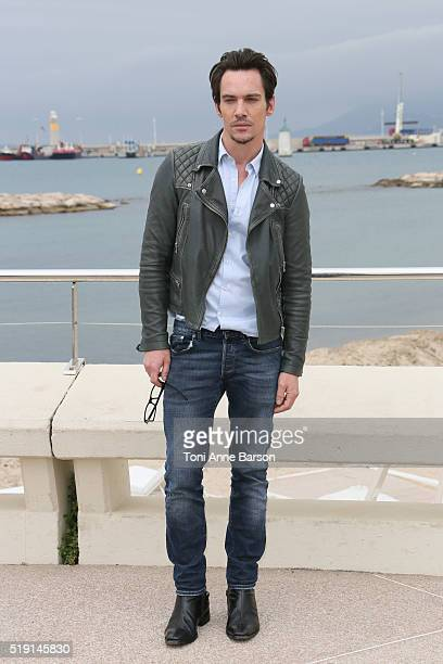 Jonathan Rhys Meyers attends 'Roots' Photocall as part of MIPTV 2016 on April 4 2016 in Cannes France