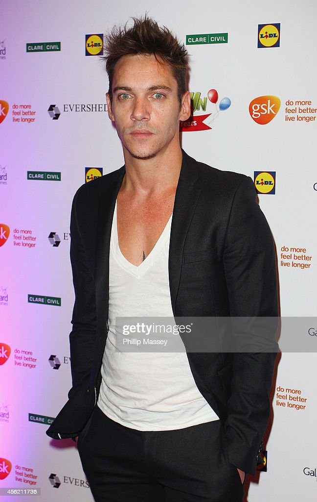 <a gi-track='captionPersonalityLinkClicked' href=/galleries/search?phrase=Jonathan+Rhys+Meyers&family=editorial&specificpeople=206662 ng-click='$event.stopPropagation()'>Jonathan Rhys Meyers</a> attends the Barretstown 20th Anniversary Gala Ball at Convention Centre on September 27, 2014 in Dublin, Ireland.
