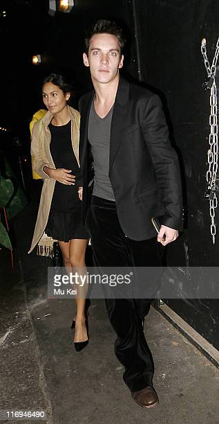 Jonathan RhysMeyers and Guest during Celebrity Sightings in Central London January 21 2006 at Central London in London Great Britain