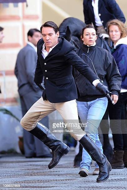 Jonathan RhysMeyers is seen filming on location for 'Belle du Seigneur' on November 9 2010 in Camogli Italy