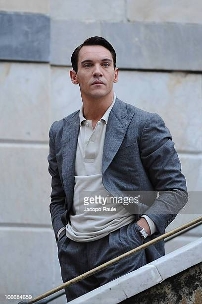 Jonathan RhysMeyers is seen filming on location for 'Belle du Seigneur' on November 10 2010 in Camogli Italy