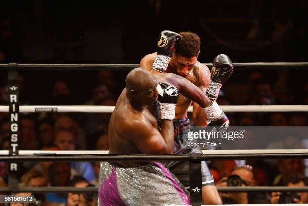 Jonathan Rice of United States fights againt Tony Yoka of France during the boxing event La Conquete at Zenith de Paris on October 14 2017 in Paris...