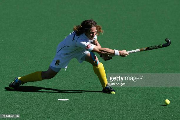 Jonathan Robinson of South Africa scores a goal from the penalty spot during the 9th/10th place play off match between Japan and South Africa on Day...