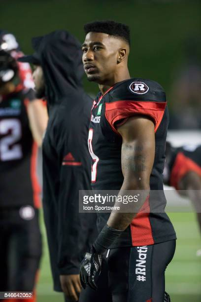 Jonathan Rose of the Ottawa Redblacks in Canadian Football League Action at TD Place Stadium in Ottawa Canada on Saturday September 9 2017 The...