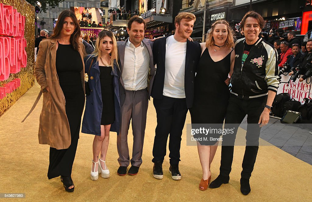 Jonathan Ross (R) and guests attend the World Premiere of 'Absolutely Fabulous: The Movie' at Odeon Leicester Square on June 29, 2016 in London, England.