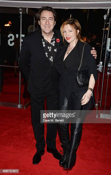 Jonathan Ross and Jane Goldman attend the World Premiere of 'The Hunger Games Mockingjay Part 1' at Odeon Leicester Square on November 10 2014 in...
