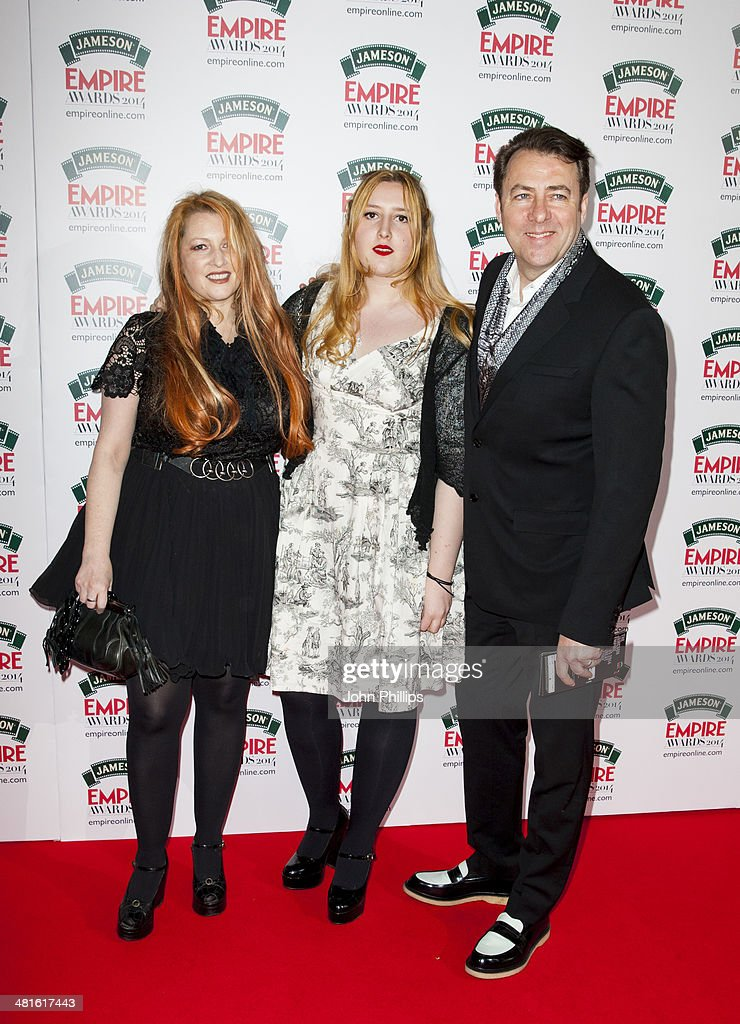 Jonathan Ross and Jane Goldman attends the Jameson Empire Film Awards at The Grosvenor House Hotel on March 30, 2014 in London, England.
