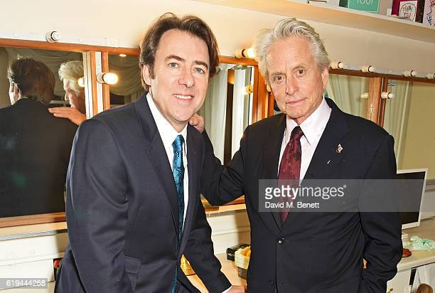 Jonathan Ross and Michael Douglas pose backstage at 'An Evening With Michael Douglas' in conversation with Jonathan Ross at Theatre Royal Drury Lane...