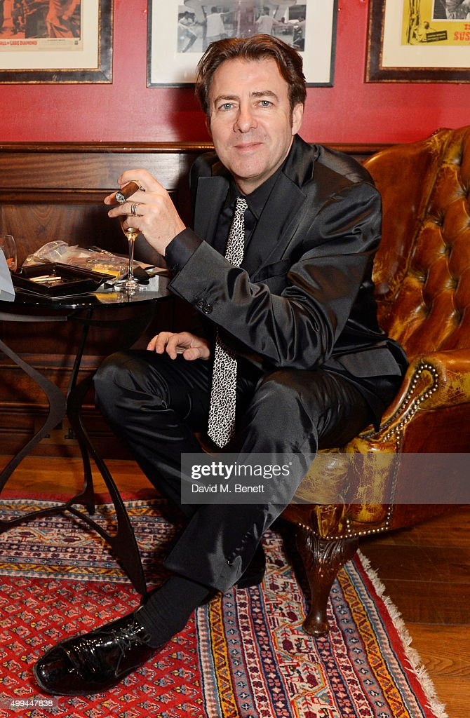 Jonathan Ross attends The Snow Queen Cigar Smoker of the Year Awards Dinner 2015 at Boisdale, Canary Wharf, on December 1, 2015 in London, England.