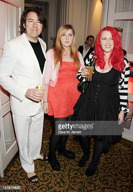 Jonathan Ross Jane Goldman and daughter arrive at the Jameson Empire Awards at Grosvenor House on March 25 2012 in London England