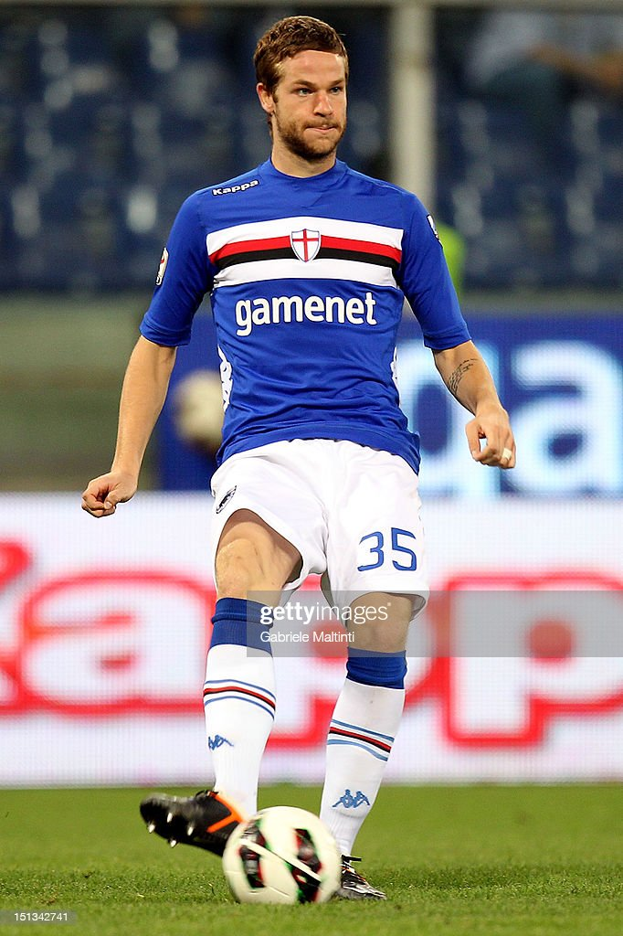 <a gi-track='captionPersonalityLinkClicked' href=/galleries/search?phrase=Jonathan+Rossini&family=editorial&specificpeople=5780827 ng-click='$event.stopPropagation()'>Jonathan Rossini</a> of UC Sampdoria in action during the Serie A match between UC Sampdoria and AC Siena at Stadio Luigi Ferraris on September 2, 2012 in Genoa, Italy.