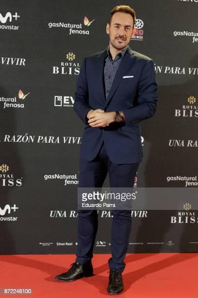 Jonathan Ruiz attends the 'Una razon para vivir' premiere on November 9 2017 in Madrid Spain