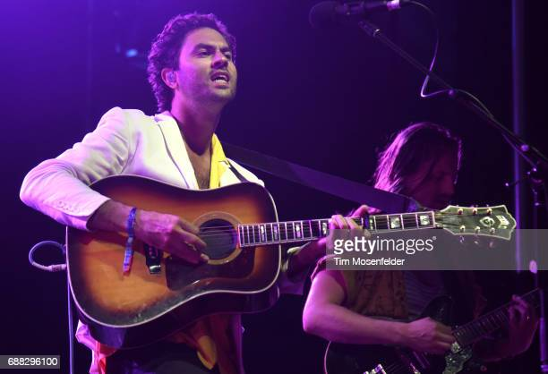 Jonathan Russell of The Head and the Heart performs during the 2017 Hangout Music Festival on May 20 2017 in Gulf Shores Alabama