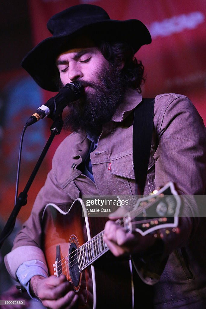 Jonathan Russell of The Head and The Heart performs onstage at the ASCAP Music Cafe Day 8 during the 2013 Sundance Film Festival at Sundance ASCAP Music Cafe on January 25, 2013 in Park City, Utah.